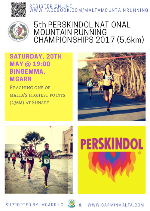 Perskindol Mountain Race running championship 2017 poster