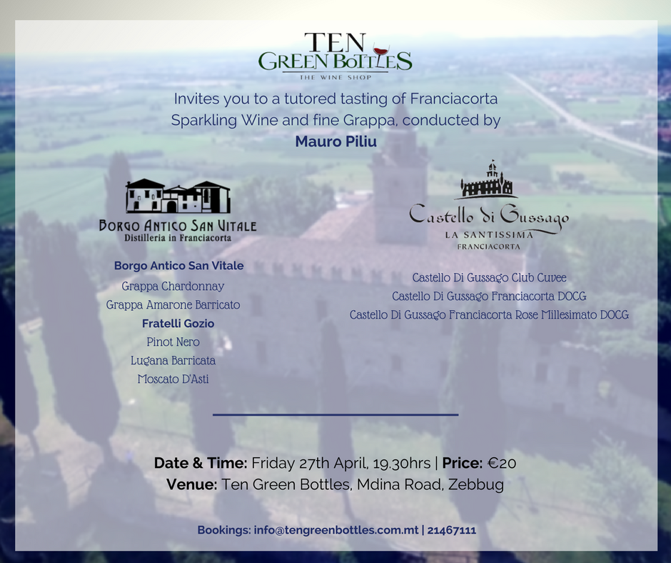 Franciacorta Tasting Event 27th April