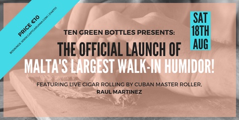 launch of walk in humidor & live cigar rolling