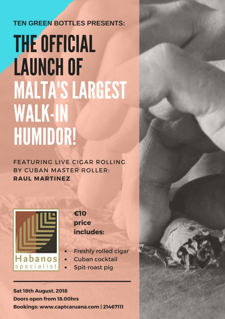 Launch of Malta's largest walk in humidor