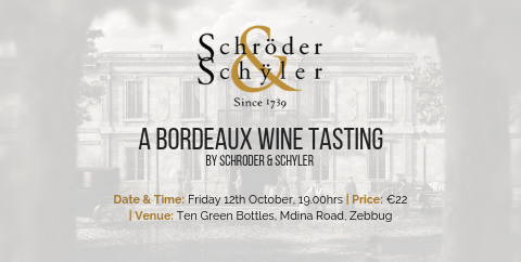 Bordeaux Wine Tasting 12th October