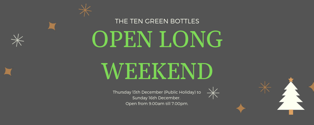 Ten Green bottles 13th December-16th December