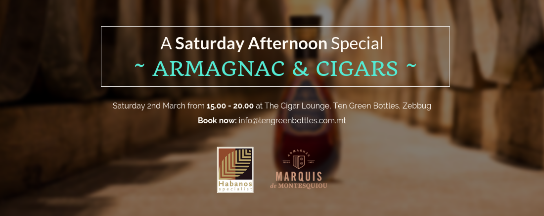 Armagnac & Cigar event 2nd March