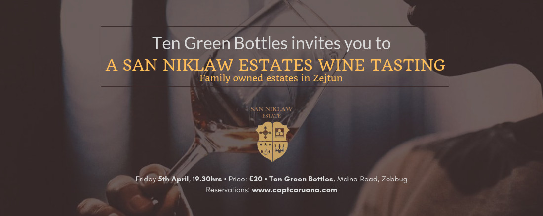 San Niklaw Tasting local wines from Zejtun- 5th April