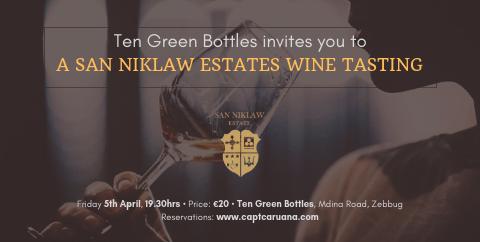 San Niklaw Estate tasting- 5th April