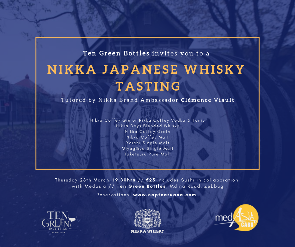 Nikka whisky tasting 28th March