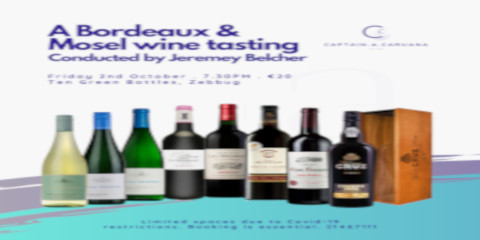 Bordeaux wine tasting 2nd October